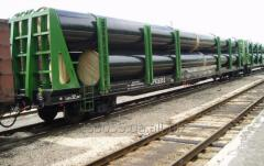 Железнодорожные перевозки грузов на платформе