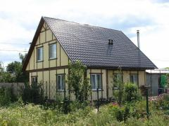 Construction of cottages on individual projects.