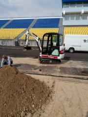 Dredging pass the excavator