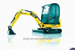 Rent of the compact JCB 8014 excavator