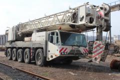 Rent of the truck crane 100 of t of TEREX DEMAG of