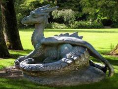 Фигуры сказочные,дракон из бетона