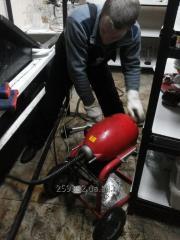 Механическая прочистка засоров канализации