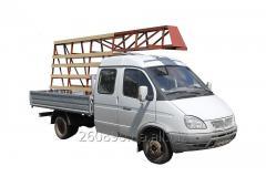 ГРУЗОПЕРЕВОЗКИ ГАЗель (газ), грузопасссажир. 5 чел., дл.кузова 3 м, пирамида (снимается)  - 140 грн/час.