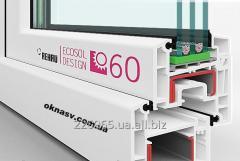 Металлопластиковое окно Rehau Ecosol 60 (4-12-4-8-4) Axor