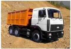 Вывоз строительного мусора самосвалом МАЗ 5516