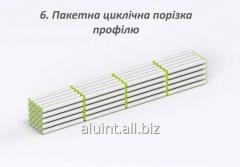 Пакетная цикличная порезка алюминиевого профиля