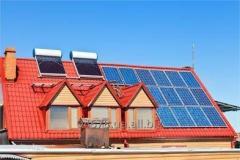 Установка солнечного и ветро- электроснабжения