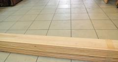 Installation of wooden lining on a balcony, the