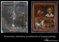Painting restoration: pictures, icons, wooden