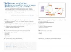 Разработка и внедрение автоматической воронки продаж Вашего проекта на STUDYMIR