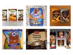 Фасовка и упаковка сыпучих продуктов питания (крупы, сахар, мука, приправы, семена)
