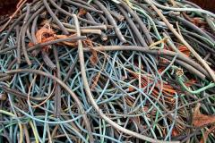 Utilization and processing of waste of a copper