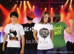 Printing photos on T-shirts
