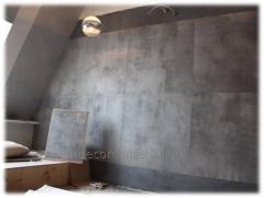 Декоративная отделка  бетон LOFT стиль