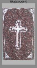 Художественное Оформление памятника Крест в рамке