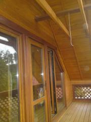 Обшивка балконов деревянных
