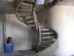 Лестницы железобетонные прямые, винтовые