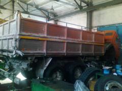 Car service of the KAMAZ trucks