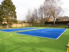 Laying of an artificial grass TENNIS, Soccer,
