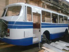 Repair of bodies of buses (kapitalniya)