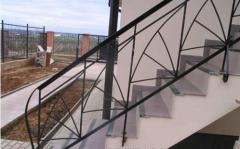 Installation of metal stairs, handrails, stairs