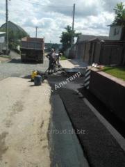 The asphalt concrete device with preparation