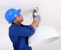 Монтаж и подключение люстры - Услуги электрика - Швидко сервіс