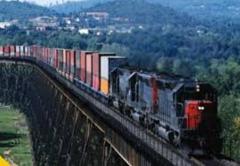 Cargo transportation across Ukraine, Railway