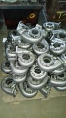Casting of cast iron and steel, production of