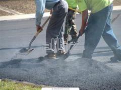 Устройство и ремонт асфальтобетонного покрытия дорог, площадок и тротуаров