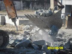 Устройство котлованов под фундаменты зернохранилищ и выгрузочных эстакад в скальных грунтах