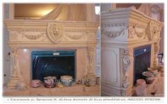 Подрезка, монтаж и роспись лепных элементов