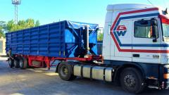Re-equipment of semi-trailers in grain-carriers.