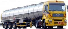 Transportation of vegetable oil by cars with