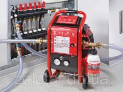 Hydro flushing of heating systems