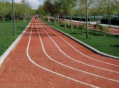 Laying of sports surfaces