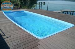 Монтаж стекловолоконных бассейнов