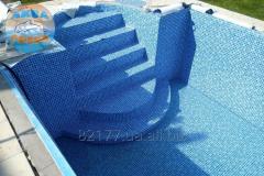 Монтаж ПВХ плёнки в бассейне (пайка лайнера)