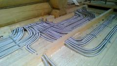 Laying of cables and pipes