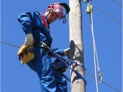 Electrical works at height
