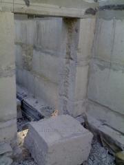 Резка проемов,Сверление отверстий в фундаментных блоках Харьков.