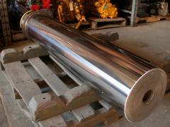 Chromium plating of rods of shaft of rollers