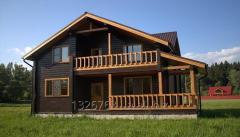 Покраска деревянного дома. Шлифовка сруба