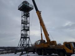 Изготовление, монтаж, демонтаж, перенос смотровых ― сторожевых вышек высотой до 40 метров