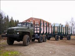 Услуги лесовозом УРАЛ 4320 с манипулятором по