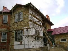 Фасадные работы (облицовка, утепление) container