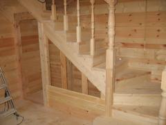 Изготовление деревянной лестницы