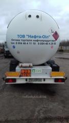 Услуги перевозки ГСМ/нефтепродуктов бензовозами, газовозами