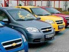 Avtoarend's hire cars Daewoo, Cnevrolet, Nissan,